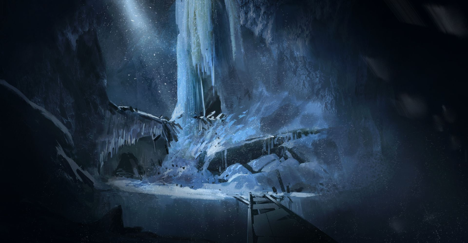 Ice caves paintover